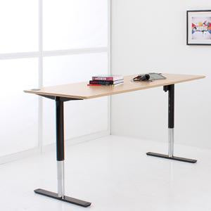Conset Elegant Stylish Electric Desk  with Round columns Conset 501-49 (Inner coloum Chrome )
