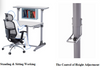 Hydraulic  Gas Lift Adjustable  Healthy Desk (Adults)
