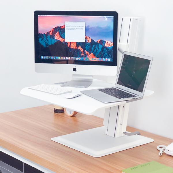 Integrated Sit-Stand Workstation White For Laptop or Monitor E15