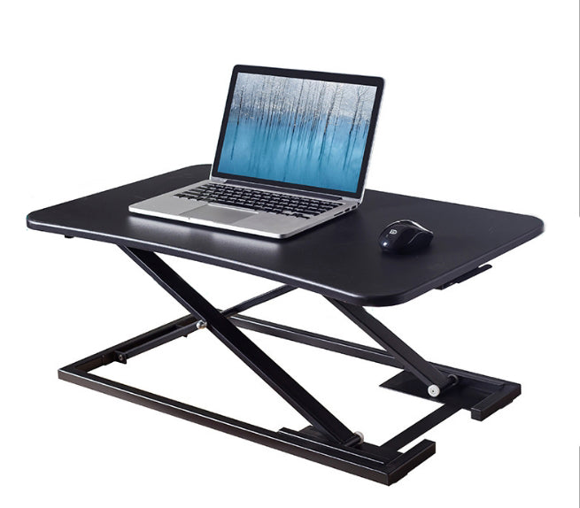 Instant Standing Desk Sit-Stand Desk Converter for Laptop, Step-less height adjustable lock at any height, Notebook Riser Workstation, Black (E21028)