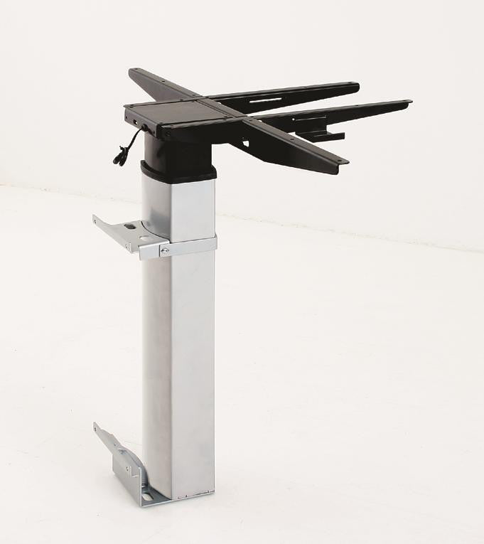 Conset 501-19 Sit Stand Electric Desk - Wall Mounted