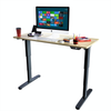 Dual Motor Height Adjustable Electric Standing Desk, Standing Desk Adjustable Height Stand Up Desk Computer Desks with Anti-Collision Protection with Two-Pieces Type Tabletop, Grey (DM8P)