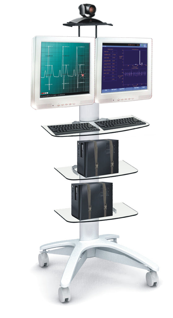 Dual Monitor Medical Cart (HSC-05)