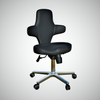 Ergonomic Multi-Purpose Adjustable Sit Stand Office Chair with Tilting Back Rest and Wheels, Black