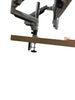 Dual Monitor Height Adjustable Gas Spring Desk Mount Stand Fits 10