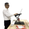 Ergonomic Design Multi Level Height Adjustable Laptop Stand, Sit-stand, Table Top, Black