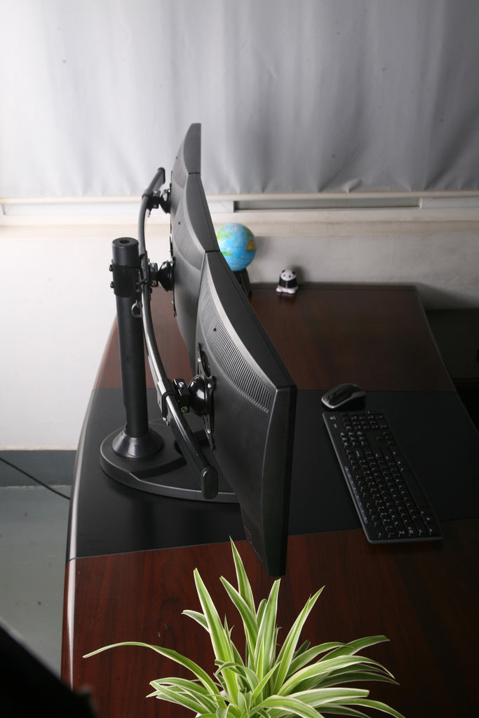 LCD Triple  Monitor  Stand  Free  Standing