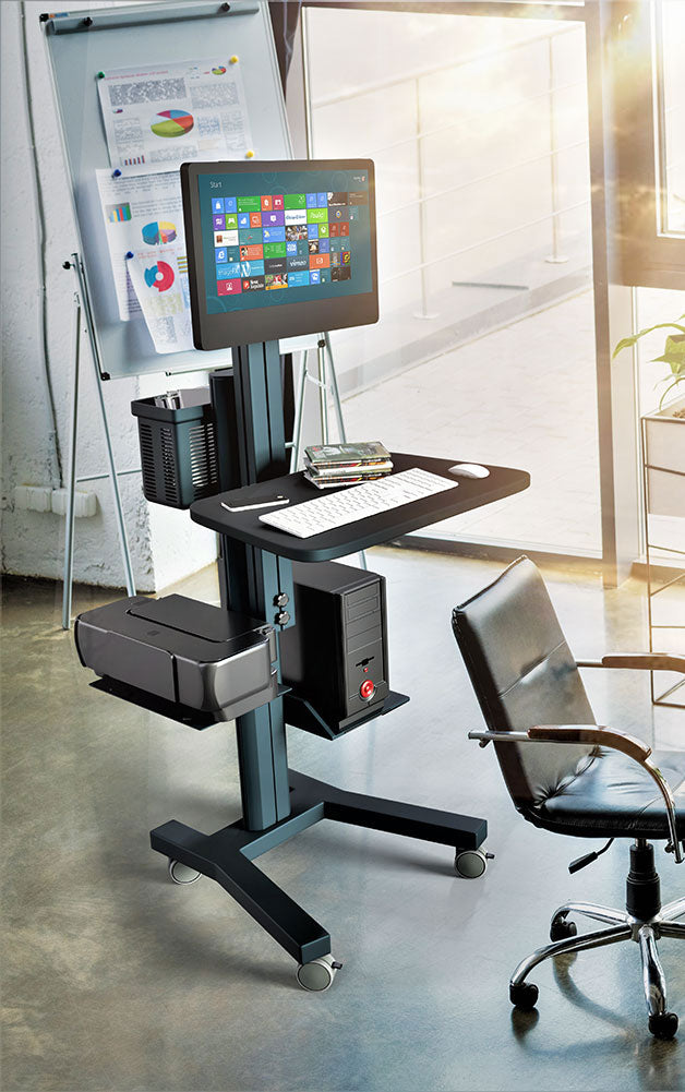 Computer Mobile Workstation Cart (MCT09)