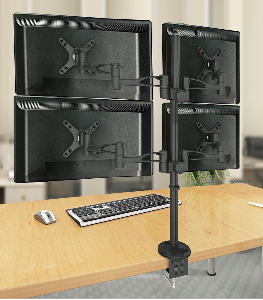 Four Monitor Arm Clamp Stand  4MS-CT
