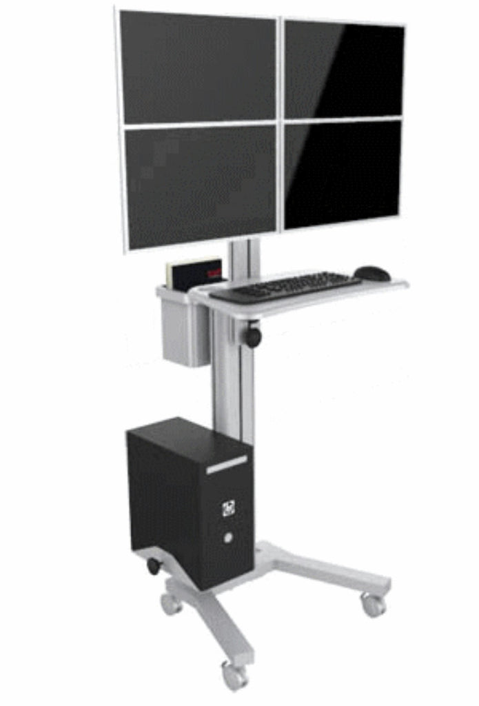 Four Computer Mobile Cart (MCT09-D)