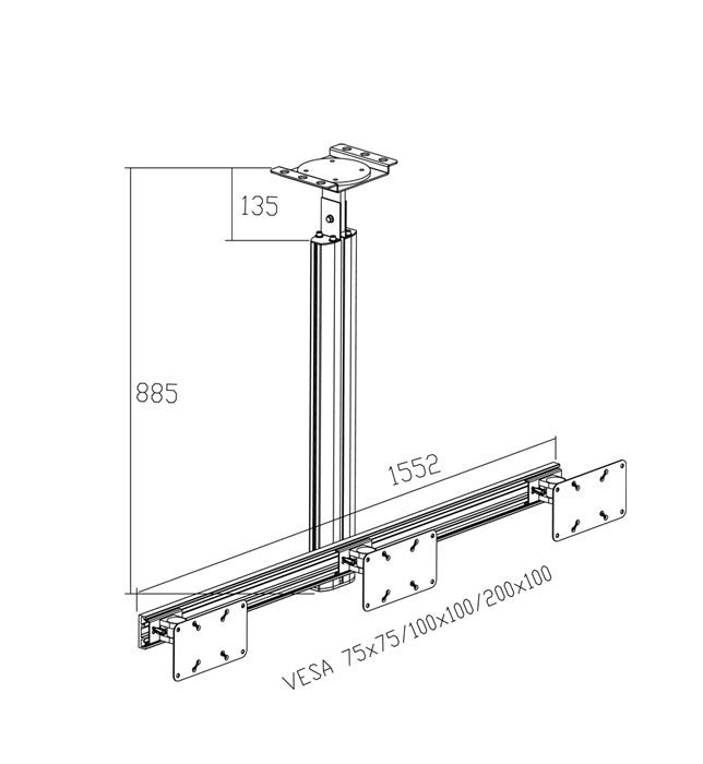 LCD Tv Ceiling Mount 1203