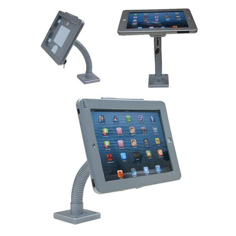 WALL / DESK MOUNT FOR  IPAD / MINI PC (IP7) with goose neck arm for iPad 9.7, 10.2/10.5 and 12.9