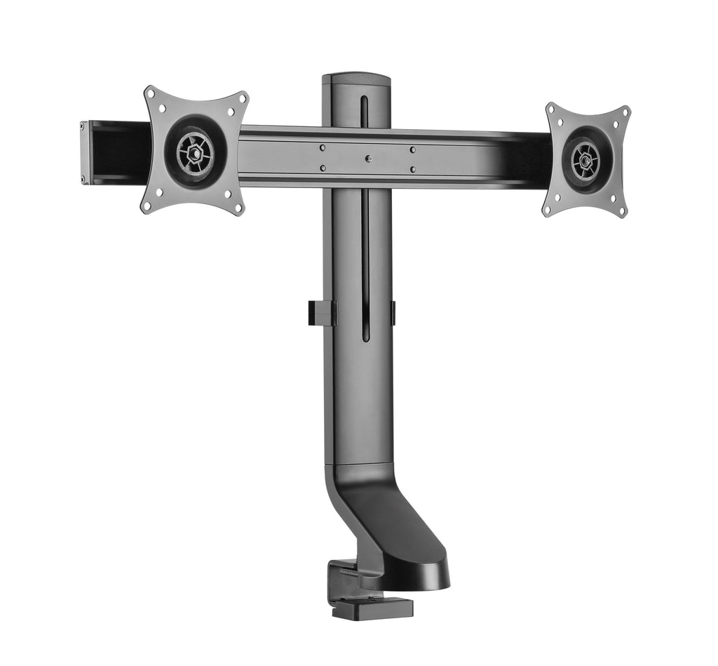 "Dual 17"" - 27"" VESA Height Adjustable Screen Monitor Mount for Standing Desk Converter - Black"