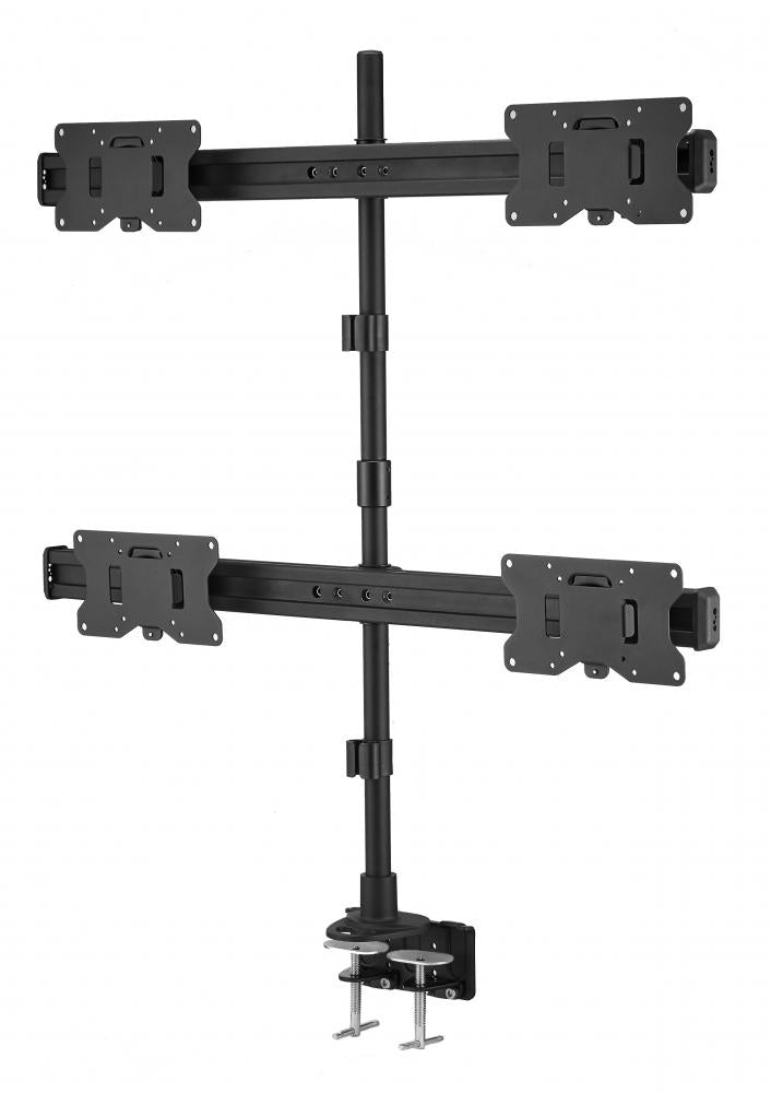Quad LED LCD Monitor Stand up Clamp Desk Mount for Support up to 32