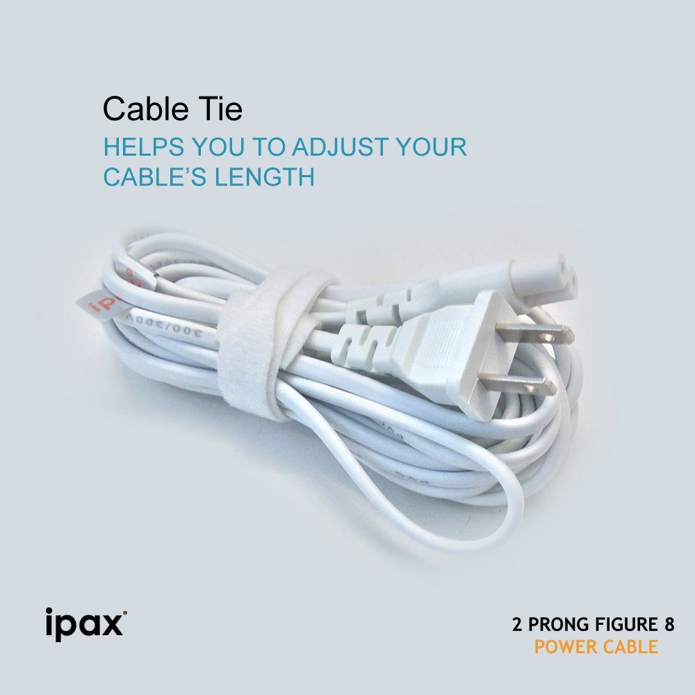 IPAX® 10ft AC Adapter 2-Prong Figure 8 Power Cord