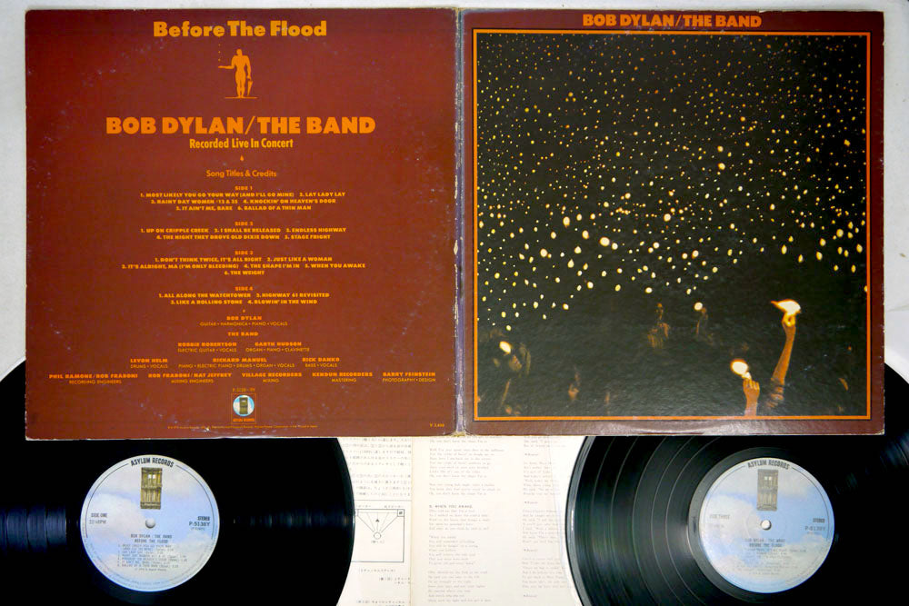 BOB DYLAN / THE BAND - BEFORE THE FLOOD - Japanese Pressing 2LP