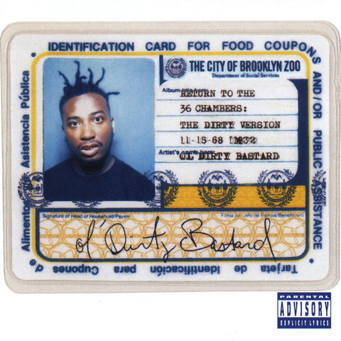 Ol' Dirty Bastard ‎– Return To The 36 Chambers: The Dirty Version BONUS TRACKS - new vinyl
