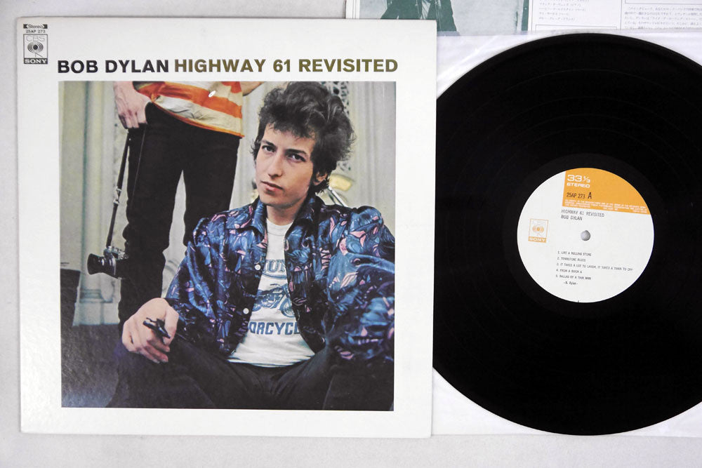 BOB DYLAN - HIGHWAY 61 REVISITED - 1976 Japanese re-issue, used LP