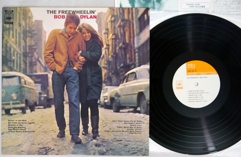 BOB DYLAN - FREEWHEELIN' - 1976 Japanese re-issue, used LP
