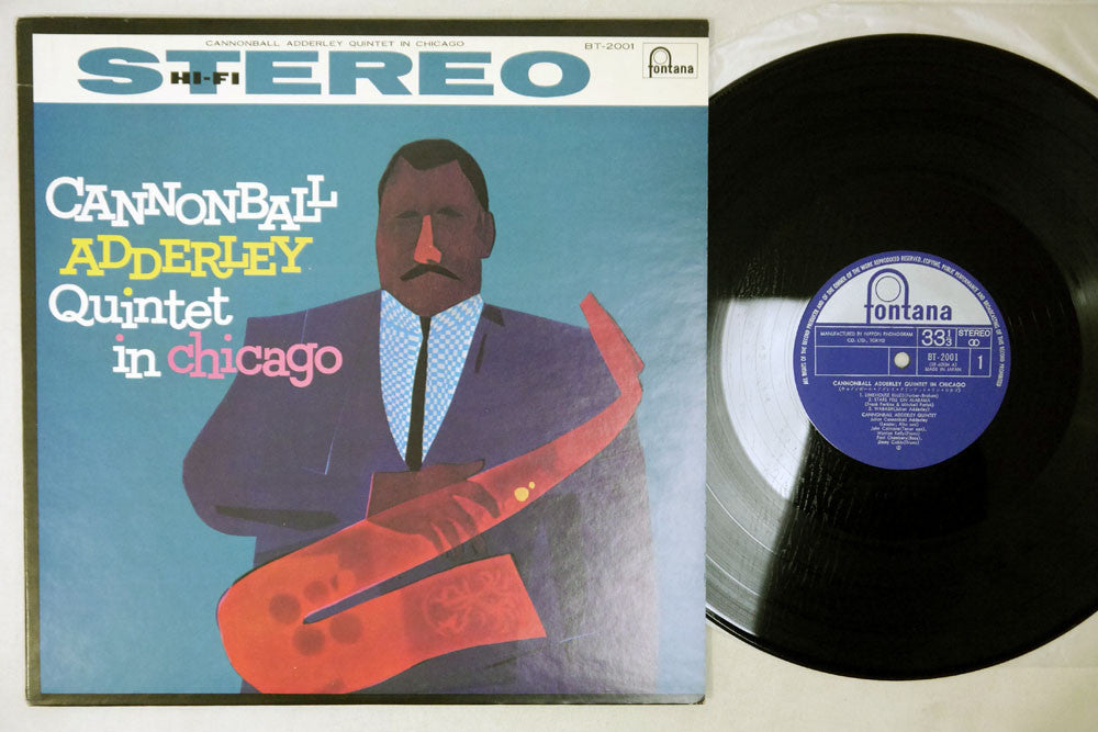 CANNONBALL ADDERLEY QUINTET - IN CHICAGO - 1972 Japanese re-issue, used LP