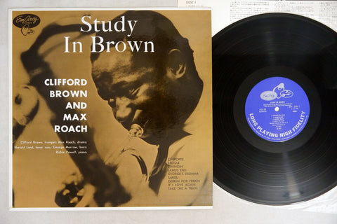 CLIFFORD BROWN & MAX ROACH - STUDY IN BROWN - MONO Japanese re-issue, used LP