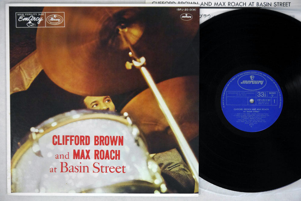 CLIFFORD BROWN & MAX ROACH - AT BASIN STREET - 1971 Japanese re-issue, used LP