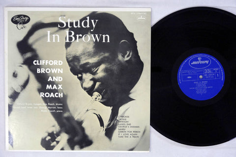 CLIFFORD BROWN & MAX ROACH - STUDY IN BROWN - 1977 Japanese re-issue, used LP