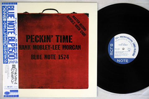 HANK MOBLEY - PECKIN' TIME - 1990 Japanese re-issue, used LP