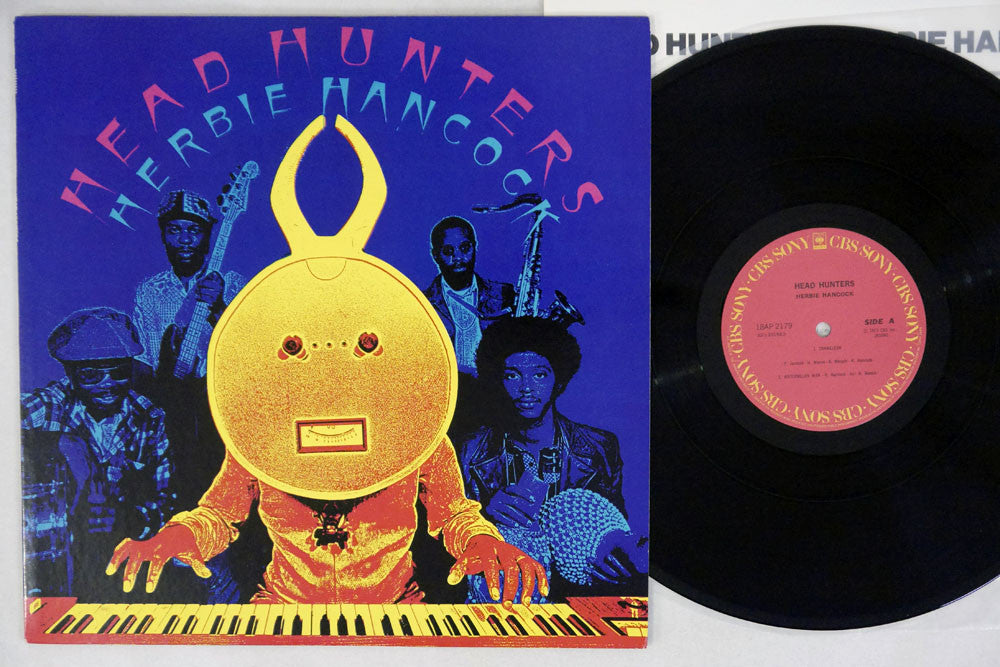 HERBIE HANCOCK - HEAD HUNTERS - 1981 Japanese re-issue, uesd LP