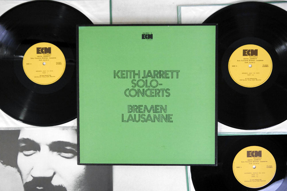 KEITH JARRETT - SOLO-CONCERTS BREMEN & LAUSANNE - 1st Japanese pressing, used 3LP