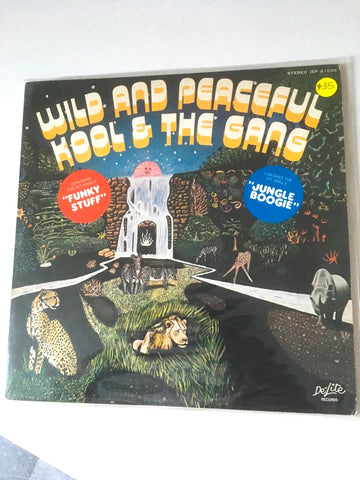 KOOL & THE GANG - WILD AND PEACEFUL - 1st Japanese pressing, disques usagé / used LP