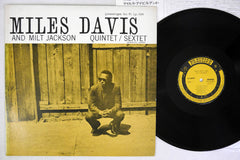 MILES DAVIS AND MILT JACKSON Sextet - 1976, Japanese re-issue - used LP