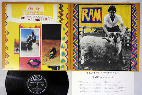 PAUL and LINDA McCARTNEY - RAM - 1975 Japanese re-issue, used LP