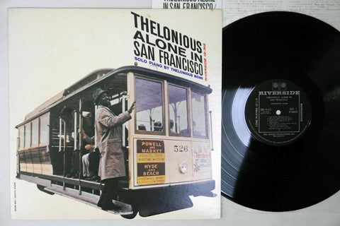 THELONIOUS MONK - THELONIOUS ALONE IN SAN FRANCISCO - 1977 Japanese re-issue, used LP