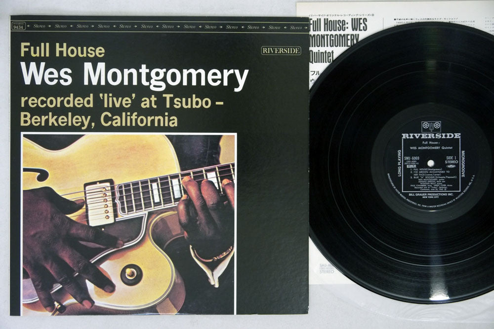 WES MONTGOMERY QUINTET - FULL HOUSE - 1974 Japanese re-issue, used LP
