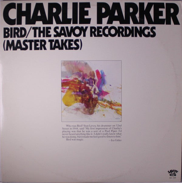 Charlie Parker ‎– Bird / The Savoy Recordings (Master Takes) - used vinyl