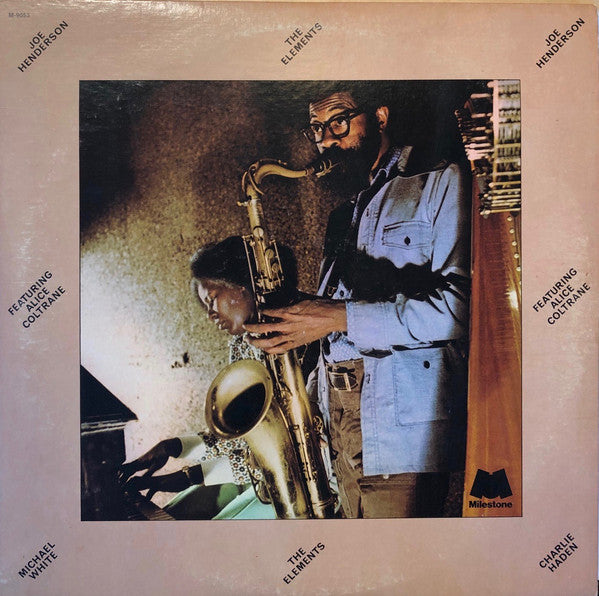 Joe Henderson Featuring Alice Coltrane ‎– The Elements - new vinyl