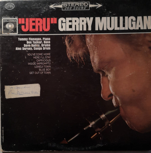Gerry Mulligan ‎– Jeru - USED VINTL