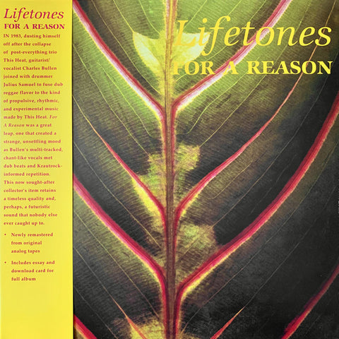 Lifetones ‎– For A Reason - new vinyl