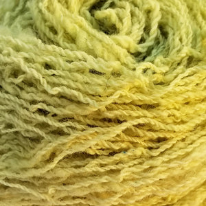 Border Leicester, 2 ply Fingering weight, 103 yds: Speckled Celery Green