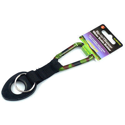 Camoflauge Aluminum Clip on Carabiner With Water Bottle Holder - Cedar Creek Outdoors - 1