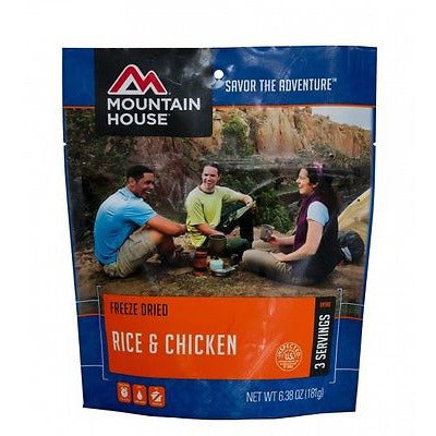 Mountain House Freeze Dried Food Pack-Rice & Chicken - Cedar Creek Outdoors - 1