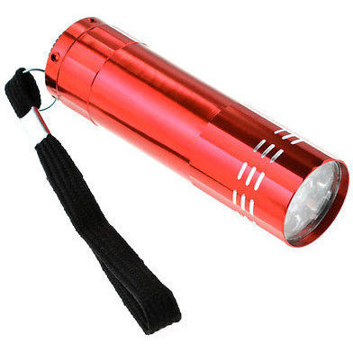 Red Mini Aluminum 9 LED Bright Pocket Flashlight - Cedar Creek Outdoors - 1
