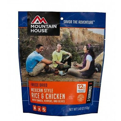 Mountain House Food Pouch-Mexican Style Rice & Chicken - Cedar Creek Outdoors - 1