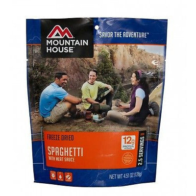 Mountain House Food Pouch-Spaghetti With Meat Sauce - Cedar Creek Outdoors - 1