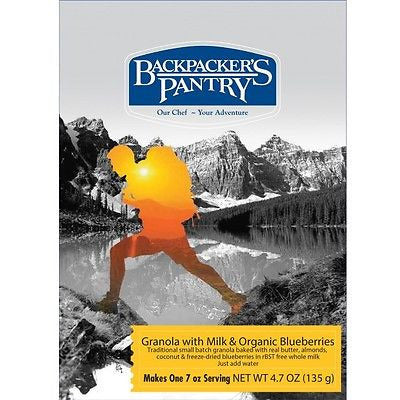 Backpacker's Pantry Granola with Milk & Organic Blueberries - Cedar Creek Outdoors - 1