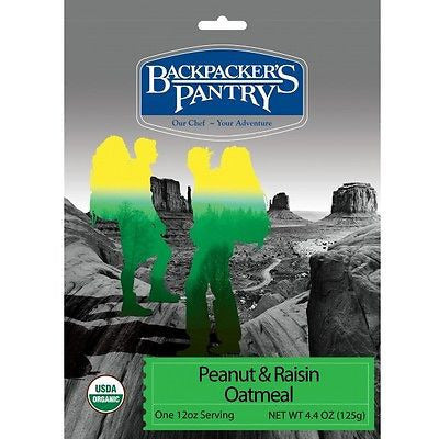 Backpacker's Pantry Organic Peanut & Raisin Oatmeal - Cedar Creek Outdoors - 1