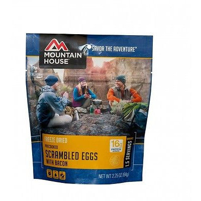 Mountain House Food Pouch-Scrambled Eggs With Bacon - Cedar Creek Outdoors - 1