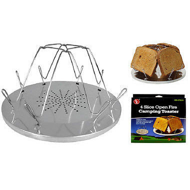 4 Slice Open Fire Camping Toaster Camp Stove Toaster - Cedar Creek Outdoors - 1