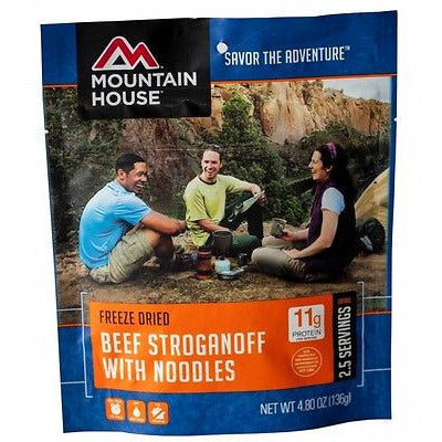 Mountain House Food Pouch-Beef Stroganoff With Noodles - Cedar Creek Outdoors - 1